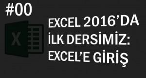 Excel'e Giriş | Excel Eğitimi #0