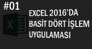 Excel'de Basit Dört İşlem | Excel Eğitimi #01
