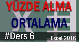 Excel'de Yüzde alma, ortalama ve Yuvarlama | Excel Eğitimi #06