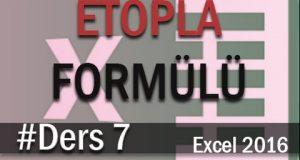 Etopla formülü kullanımı | Excel Eğitimi #07