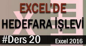 Excel'de Hedef Ara İşlevini Kullanmak | Excel Eğitimi #20