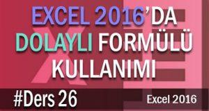 Excel Dolaylı Formülü ile Veri Doğrulama | Excel Eğitimi #26