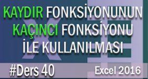 Excel Kaydır Fonksiyonu – (Kaçıncı Fonksiyonu İçiçe Kullanımı) | Excel Eğitimi #40