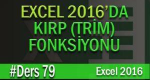 Kırp (Trim) Fonksiyonu | Excel Eğitimi #79
