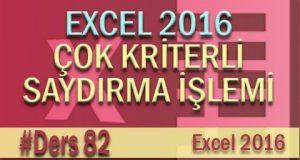 Çok Kriterli Saydırma İşlemi | Excel Eğitimi #82
