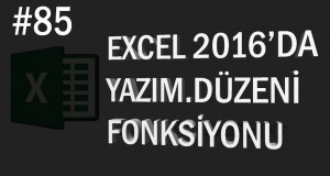 Yazım.Düzeni (Proper) Fonksiyonu | Excel Eğitimi #85