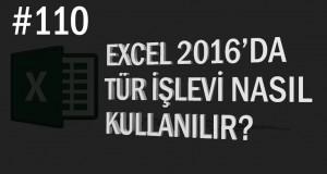 Tür İşlevi Kullanımı | Excel Eğitimi #110