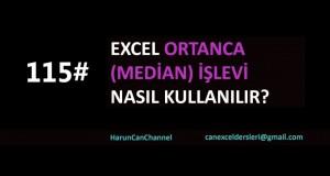 Ortanca (Median) İşlevi Kullanımı | Excel Eğitimi #115
