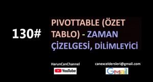 PivotTable – Zaman Çizelgesi ve Dilimleyici | Excel Eğitimi #130