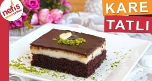 Şerbetli ve Çikolatalı Kare Tatlı Tarifi – Yaş Pasta tadında nefis bir tatlı