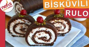 PİŞMEYEN Bisküvili Rulo Pasta – 15 dakikada hazır, sarılmadı kırıldı derdi yok :)