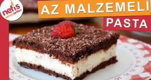 AZ MALZEMELİ EN KOLAY PASTA – Çikolatalı Muhallebili Pasta