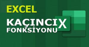 KAÇINCI (MATCH) Fonksiyonu | Excel Dersleri