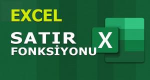 SATIR (ROW) Fonksiyonu | Excel Dersleri