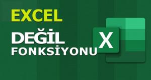 DEĞİL (NOT) Fonksiyonu | Excel Dersleri