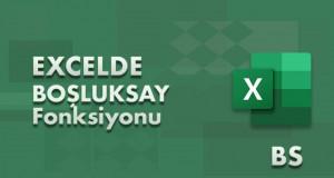 BOŞLUKSAY (COUNTBLANK) Fonksiyonu | Excel Dersleri