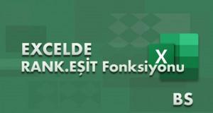 RANK.EŞİT (RANK.EQ) – RANK.ORT (RANK.AVG) Fonksiyonları | Excel Dersleri