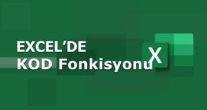 KOD (CODE) Fonksiyonu | Excel Dersleri