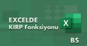 KIRP (TRIM) Fonksiyonu | Excel Dersleri