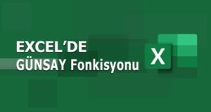 GÜNSAY (DAYS) Fonksiyonu | Excel Dersleri