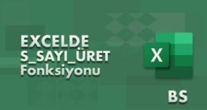S_SAYI_ÜRET (RAND) Fonksiyonu | Excel Dersleri