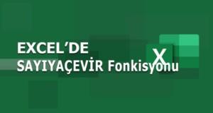 SAYIYAÇEVİR (VALUE) Fonksiyonu | Excel Dersleri