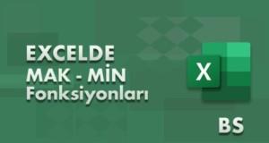 MAK (MAX) ve MİN Fonksiyonları | Excel Dersleri