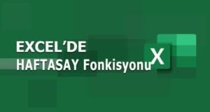 HAFTASAY (WEEKNUM) Fonksiyonu | Excel Dersleri