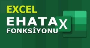 EHATA (ISERR) Fonksiyonu | Excel Dersleri