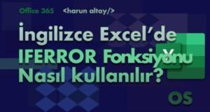IFERROR (EĞERHATA) Fonksiyonu | İngilizce Excel Fonksiyonları