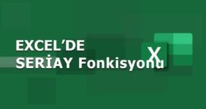 SERİAY (EOMONTH) Fonksiyonu | Excel Dersleri