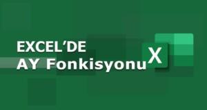 AY (MONTH) Fonksiyonu | Excel Dersleri