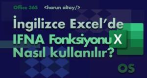 IFNA (EĞERYOKSA) Fonksiyonu | İngilizce Excel Fonksiyonları