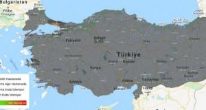 Türkiye Korona Virüs Haritası (Canlı)