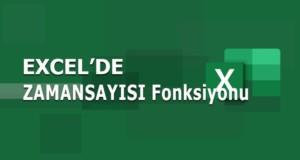 ZAMANSAYISI (TIMEVALUE) Fonksiyonu | Excel Dersleri