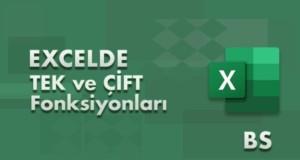 TEK ve ÇİFT (ODD – EVEN) Fonksiyonları | Excel Dersleri