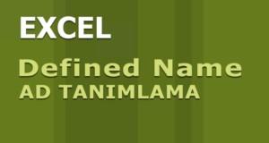 Ad Tanımlama (Defined Name) | Excel Dersleri