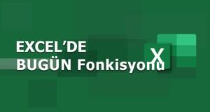 BUGÜN (TODAY), ŞİMDİ (NOW) Fonksiyonları | Excel Dersleri