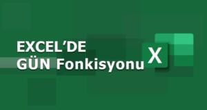GÜN (DAY) Fonksiyonu | Excel Dersleri