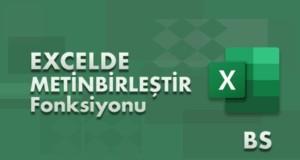 METİNBİRLEŞTİR (TEXTJOIN) Fonksiyonu | Excel Dersleri