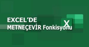 METNEÇEVİR (TEXT) Fonksiyonu | Excel Dersleri