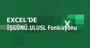 İŞGÜNÜ.ULUSL (WORKDAY.INTL) Fonksiyonu | Excel Dersleri