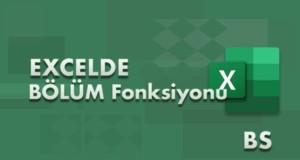 BÖLÜM (QUOTIENT) Fonksiyonu | Excel Dersleri